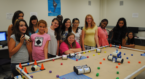 Girls learn about robots at UC Davis Center for Integrated Computing and STEM Education. We need hundreds of programs like this.