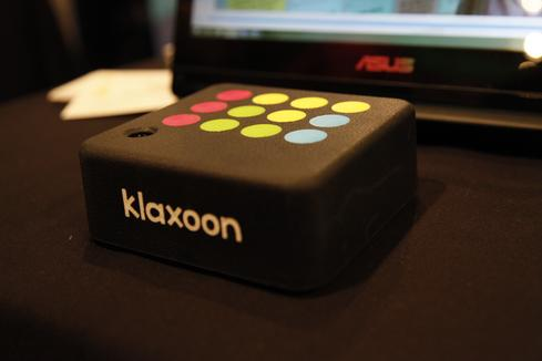 Klaxoon Klaxoon aims to provide a new means of communications for groups of people, specifically those in the workplace. The cross-platform tool works on iOS, Android, and Windows Phone devices. The startup aims to use mobile devices to make group communications more interactive. Based on content, users can propose activities to boost engagement, including surveys, challenges, brainstorming sessions, quizzes, or live messaging. If someone is giving an educational presentation, for example, he or she can launch a survey to determine how many people understood the content. The Klaxoon Box (pictured) stores the presentations and activities for you and up to 40 participants. This way you can access group content remotely without the need for an Internet connection. With Klaxoon Cloud, up to 1,000 participants can connect to a single session.