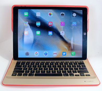 iPad Pro with keyboard.