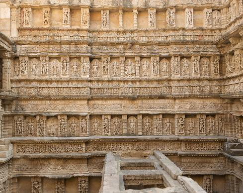 Rani ki Vav is a stepwell commissioned by Udayamati as a monument to her husband, King Bhimdev I, who ruled Gujarat and neighboring Rajasthan for more than forty years, from 1022 until his death in 1064.  (Image: CyArk)