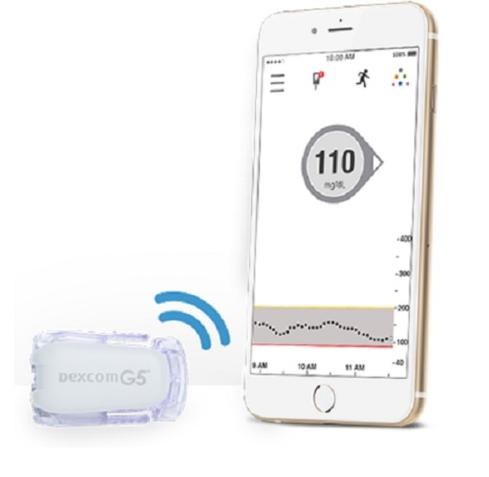G5 Mobile Continuous Glucose Monitoring System  Dexcom received FDA approval in August for its new G5 Mobile Continuous Glucose Monitoring System, which is designed to transmit blood sugar level data from the sensors worn by the user to a smartphone. With the G5, users will not need to carry a separate receiver for the wearable device. According to Dexcom, the G5 is the first fully mobile continuous glucose monitoring system that is FDA approved for both adults and children as young as 2 with diabetes.  (Image: Dexcom)