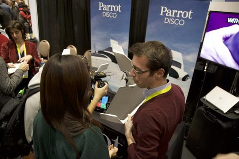 The Parrot drone was among the many flying objects that sparked interest.