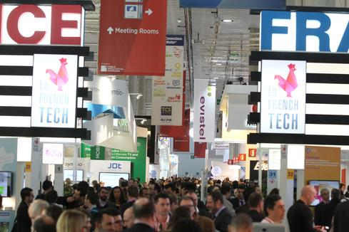 Show floor at MWC 2015