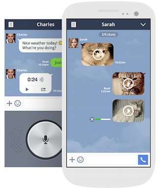 Line  Line is messaging software designed to support real-time voice and video calls, individual and group instant messages, and photo and video file sending. Calls between Line accounts are free, but the company also offers the Line Out service for calling mobiles and landlines outside the app for one cent per minute from the US and China, but rates vary for other countries. You can download and use Line on smartphone platforms including iOS, Android, Windows Phone, BlackBerry, and Nokia Asha. It's also available for download on desktops running Windows, Mac OS, and Chrome. Some handy features available in Line include the ability to send voice messages and location information. You can also add official accounts of artists, brands and TV shows to access Line-exclusive news and coupons. Like WeChat, Line lets you add friends by using the 'Shake It!' function. By shaking your phone next to a friend's device, you can add their Line contact information. You can also share contact info with a QR code or by sending your Line ID. (Image: Line)