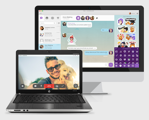 Viber Viber enables calls, video chats, texts, and image sharing over 3G, 4G, or WiFi connections. It also supports group calling for up to 40 participants. The service is free between Viber users, but a fee is charged for calling domestic and international lines outside the app. Through Viber Out, which enables outbound calls, users can buy credits and call any number. Rates start at $0.013 per minute. Viber can be used on smartphones and tablets running iOS and Android, on Windows Phone, and Windows and Mac desktops. (Image: Viber)