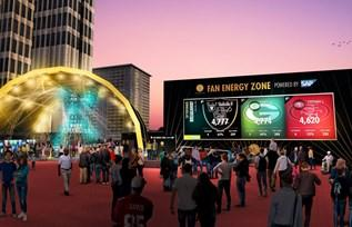 Part of the Fan Energy Zone Powered By SAP.  (Image: SAP)