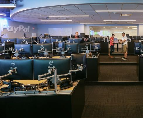 The new PayPal C3 Cloud command center. (Image: Adam Dillon/PayPal)