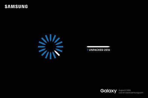 Announcement invitation.  (Image via Samsung)
