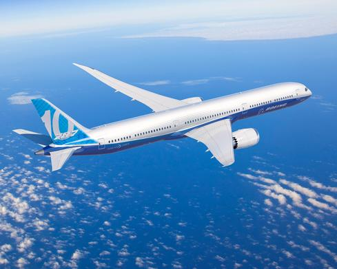Production on Boeing's 787-10 Dreamliner began in March 2016. It's the third, and largest, member of the 787 family.