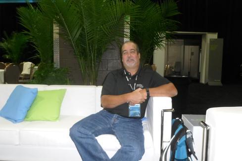 ESC Labs' Tom White at VMworld 2016 in Las Vegas (Image: Charles Babcock/InformationWeek)