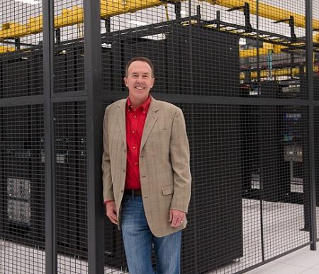 ViaWest chief data center officer Dave Leonard at the Compark data center in Denver. (Image: courtesy of ViaWest)