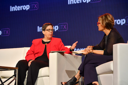 Detroit CIO Beth Niblock (l), and Code for America's Jennifer Pahlka (r)