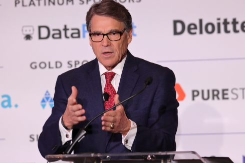 Rick Perry, former Secretary of Energy, at The AI SummitImage: Joao-Pierre S. Ruth