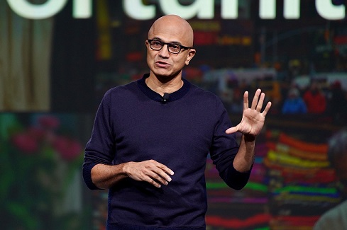 Microsoft's Nadella Says Tech Intensity Will Drive Retail in 2020