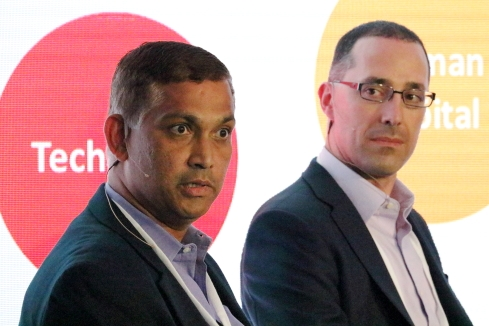 Rambabu Vallabhajosula of Priceline and Chris Jasensky of RB HealthImage: Joao-Pierre S. Ruth
