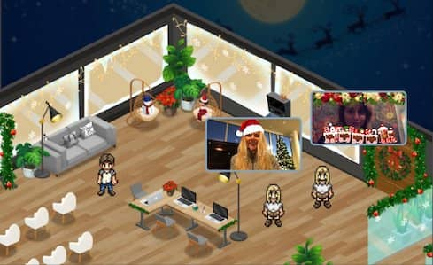 Image: Sophya, virtual holiday party